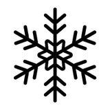 Ikona płatka śniegu czerń Zdjęcia Stock