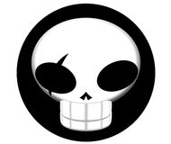 ikona pirata czaszki Obrazy Stock