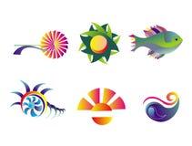 ikona plażowy wakacje Obrazy Stock