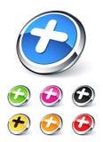 ikona plus Zdjęcie Stock