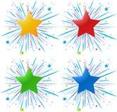 Ikona projekt z różnymi kolor gwiazdami royalty ilustracja