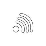Ikona projekta interneta Wi fi płaski symbol również zwrócić corel ilustracji wektora Obraz Royalty Free