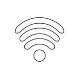 Ikona projekta interneta Wi fi płaski symbol również zwrócić corel ilustracji wektora Obrazy Stock