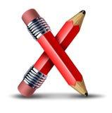 ikona przecinający ołówek Obraz Stock
