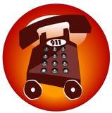 ikona przeciwawaryjny telefon Zdjęcia Royalty Free