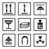 ikona pudełkowaci znaki Obrazy Stock