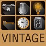 Ikona rocznika antykwarski retro styl Obraz Royalty Free