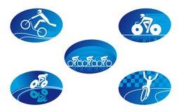 ikona rowerowy sport Obrazy Stock