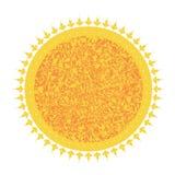 Ikona słoneczny okrąg z wzorem royalty ilustracja