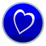 ikona serca Zdjęcia Royalty Free