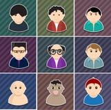 Ikona setów wektorowi różnorodni ludzie. Obrazy Stock