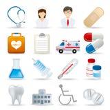 ikona set medyczny realistyczny royalty ilustracja