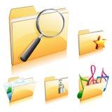 ikona skoroszytowy set Fotografia Stock