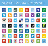 ikona socjalny medialny ustalony Obraz Royalty Free
