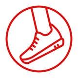 Ikona sportów buty dynamika Obrazy Stock