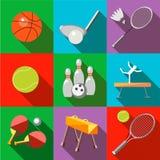 Ikona sportów wyposażenie z długim cieniem Fotografia Royalty Free
