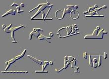 ikona sportowy symbol Zdjęcia Stock