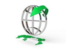 ikona strzałkowaty świat ilustracja wektor