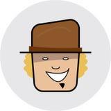 ikona twarzy Zdjęcia Stock