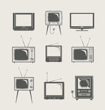 ikona ustalony tv Obraz Stock