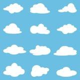 Ikona ustawiająca białe chmury Kolekcj chmury również zwrócić corel ilustracji wektora ilustracja wektor