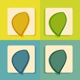 Ikona ustawiająca dla sieci i wiszącej ozdoby zastosowania ilustracja wektor