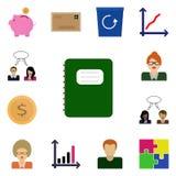 Ikona ustawiająca na białego background/Wektorowym notatniku notepad, ikony,/ustawia dochód Obraz Royalty Free