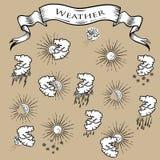 ikona ustawiająca pogoda Obraz Stock