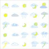 ikona ustawiająca pogoda Fotografia Stock