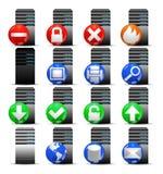 Ikona ustawiająca biurowy serweru komputer Zdjęcia Stock
