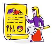 Ikona w stylu kreskówki Odosobniony przedmiot na białym backgr Obraz Royalty Free