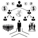 ikona wektorów biznesowi ludzie Zdjęcie Stock
