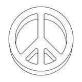 Ikona świat Hipis pojedyncza ikona w konturu stylu symbolu zapasu ilustraci wektorowej sieci Obraz Royalty Free