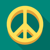 Ikona świat Hipis pojedyncza ikona w mieszkanie stylu symbolu zapasu ilustraci wektorowej sieci Fotografia Royalty Free