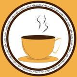 Ikona z filiżanką kawy royalty ilustracja