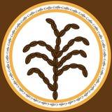 Ikona z kawowymi fasolami ilustracji