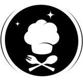 Ikona z szefa kuchni kapeluszem Obraz Stock