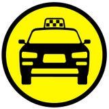 Ikona z wizerunkiem taxi samochód obraz stock