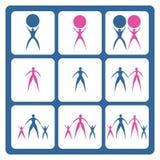 ikona zestaw Zdjęcia Stock