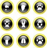 ikona zwierzęcego toru ilustracja wektor