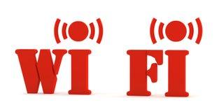 Ikone 3d wifi Lizenzfreies Stockbild