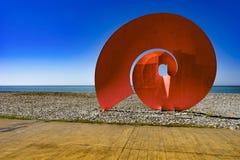 Ikone auf dem Strand, Georgia, Batumi, kann 2017 lizenzfreie stockfotografie