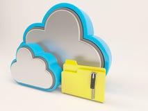 Ikone 3D Cloud Drive stock abbildung