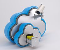 Ikone 3D Cloud Drive Stockfoto