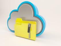 Ikone 3D Cloud Drive Lizenzfreies Stockfoto