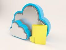Ikone 3D Cloud Drive lizenzfreie abbildung