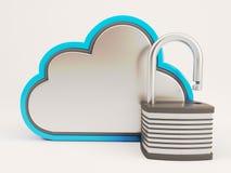 Ikone 3D Cloud Drive vektor abbildung