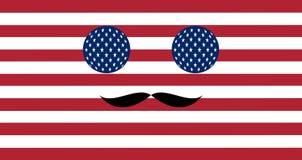 Ikone in den Farben der amerikanischen Flagge Stockbilder