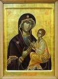 Ikone der Budslav Mutter des Gottes und des Jesus Christus Lizenzfreie Stockfotos