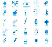 Ikone der Chemie 3d Stockbild